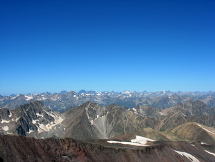 Домбай. Вид с Эльбруса